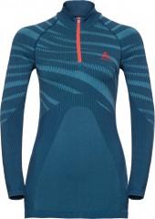 Damen Blackcomb Funktionsunterwäsche Langarm-shirt mit 1/2 Reißverschluss & Stehkragen