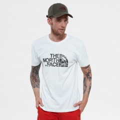 Mens Short Sleeve Woodcut Dome Tee-eu