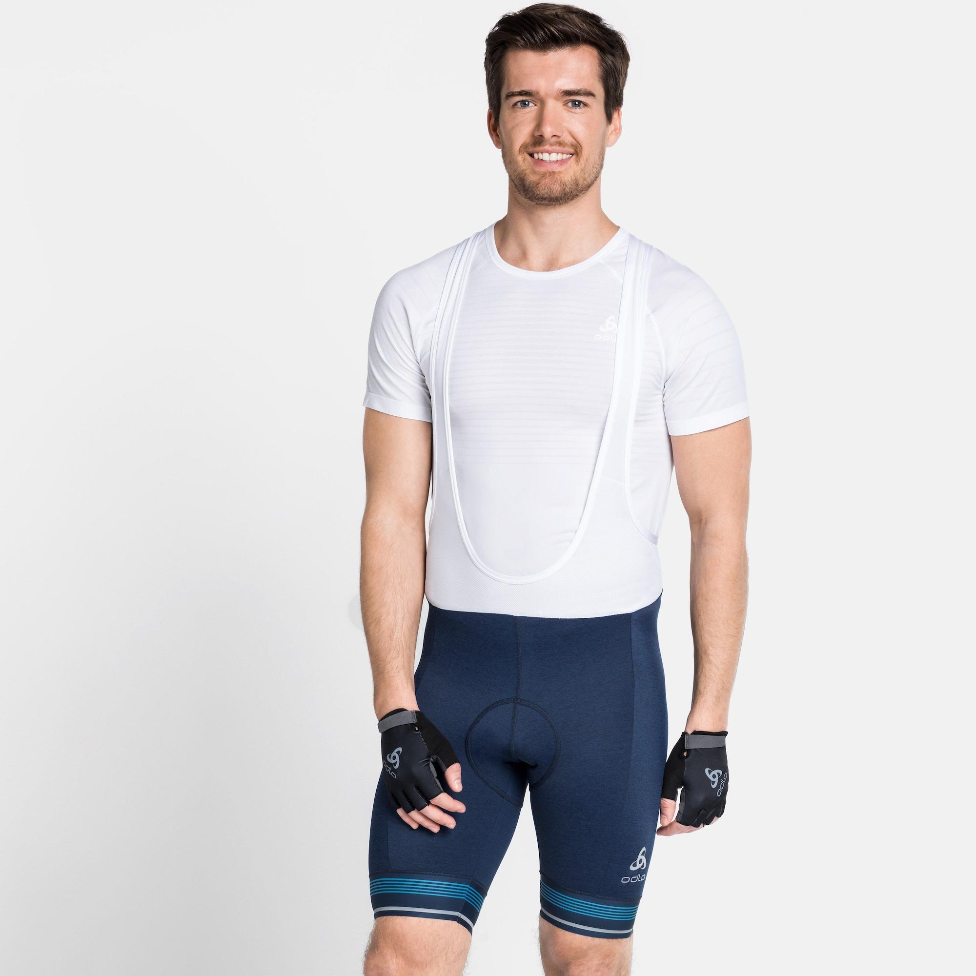 Odlo Herren Hose Tights Short Suspenders Zeroweight Dual