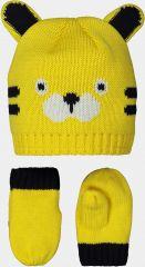Kids SET Knitted Hat+mitten