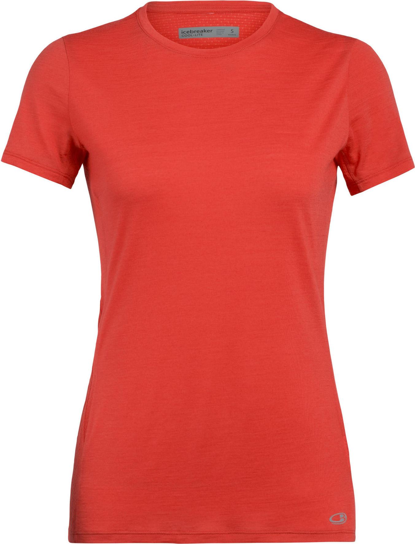 Icebreaker Merino Elements Short Sleeve Low Crew Neck Shirt Elements Short Sleeve Low Crew Neck Shirt Damen